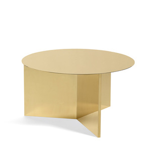 Slit Table, Round XL Brass/Mirror