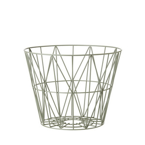 Wire Basket Small Dusty Green
