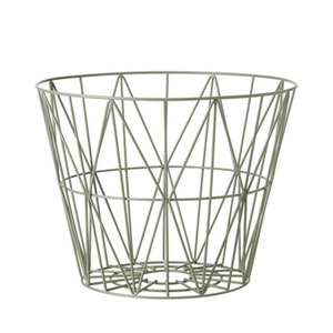 Wire Basket Medium Dusty Green