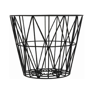 Wire Basket Medium Black