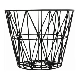 Wire Basket Large Black