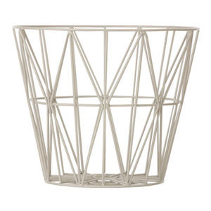 Wire Basket Large Grey