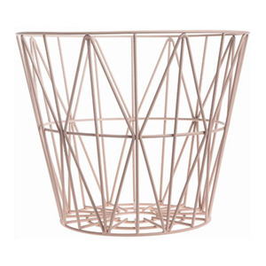 Wire Basket Large Rose