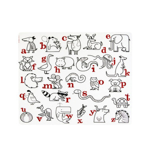 Alphabet Animals-Red and Black on 30.5 x 40.5cm