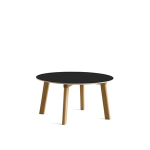 Copenhague DEUX CPH250 table Matt Lacquered Solid Oak Frame  Ø75 x H39 cm  4colors