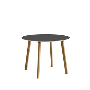Copenhague DEUX CPH220 Table Matt Lacquered Solid Oak Frame  Ø98 x H73 cm  4colors