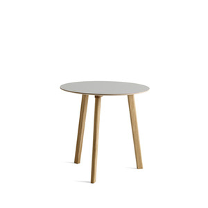 Copenhague DEUX CPH220 Table Matt Lacquered Solid Oak Frame  Ø75 x H73 cm