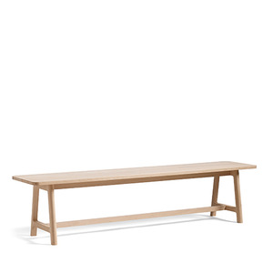 Frame Bench  L200*W40*H45 CM   Oak lac base/Grey lino top