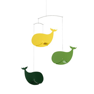 Happy Whales (yellow/green)
