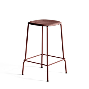 Soft Edge 30 Bar Stool H65   Fall Red Seat/Fall Red Steel Legs