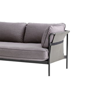 CAN Sofa 2 seater   Black frame/Grey Canvas/SUR#670