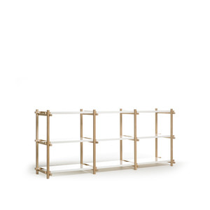 Woody High 3*3 oak/white 9 shelving