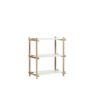 Woody Column Low 1*3 oak/white 6 shelving