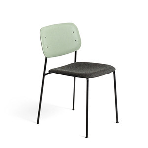 Soft Edge 10 Upholstery Dusty Green Back/Remix#973Seat Black Steel Legs