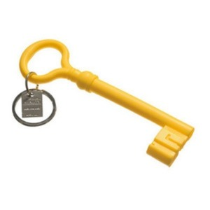 Reality Keychain Key  Yellow