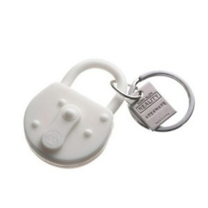 Reality Keychain Lock White