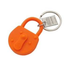 Reality Keychain Lock Orange