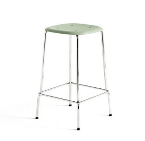 Soft Edge P30 Bar Stool H65 Chromed Steel Legs 6 colors
