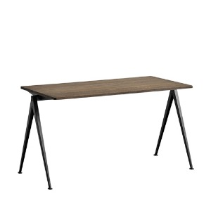 Pyramid Table 01 Black Frame / Smoked Oak Top L140 x H65 x H74