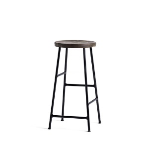 Cornet Bar Stool Low H65 2 colors/Black Legs