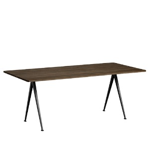 Pyramid Table 02  Black Frame / Smoke Oak Top L190 x W85 x H74