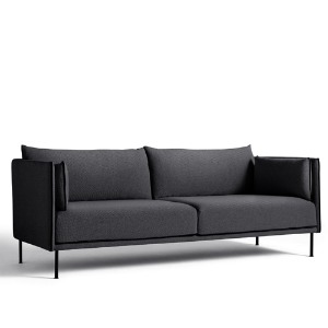 Silhouette Sofa 3 Seater  Mono Black Leather Piping/STT#195/Black Leg 주문 후 6개월 소요
