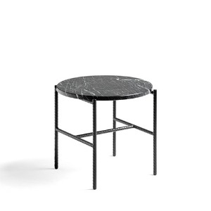 Rebar Round Side Table Marble Table Top