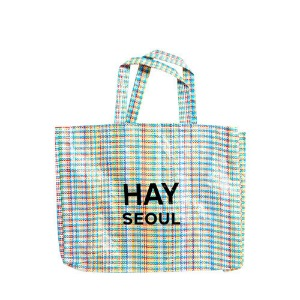 Multi Check Shopper M  HAY + SEOUL Logo