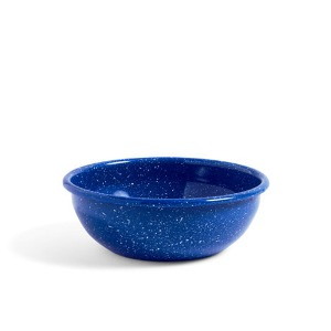 Enamel Bowl L  Dust Blue