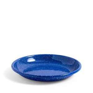 Enamel Deep Plate L Dust Blue