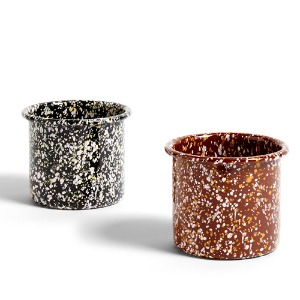 Enamel Herb Pot 2 colors