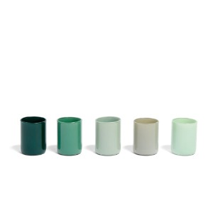 Spot Votive Set Of 5   Green