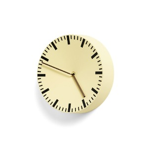Analog Wall Clock Light Yellow