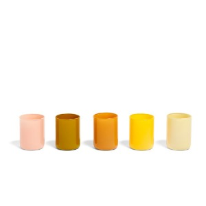 Spot Votive Set Of 5   Yellow