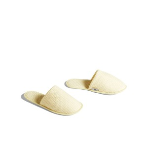 Waffle Slippers Soft Yellow