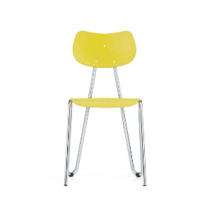 Arno 417 Chair Yellow Stained Beech/Chrome Frame