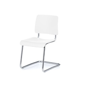 Weimar 5012 Chair White Lacquered Beech/Chrome Frame  주문 후 4개월 소요