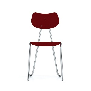 Arno 417 Chair Red Stained Beech/Chrome
