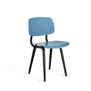 Revolt Chair Black Powder Coated Steel-Azure Blue